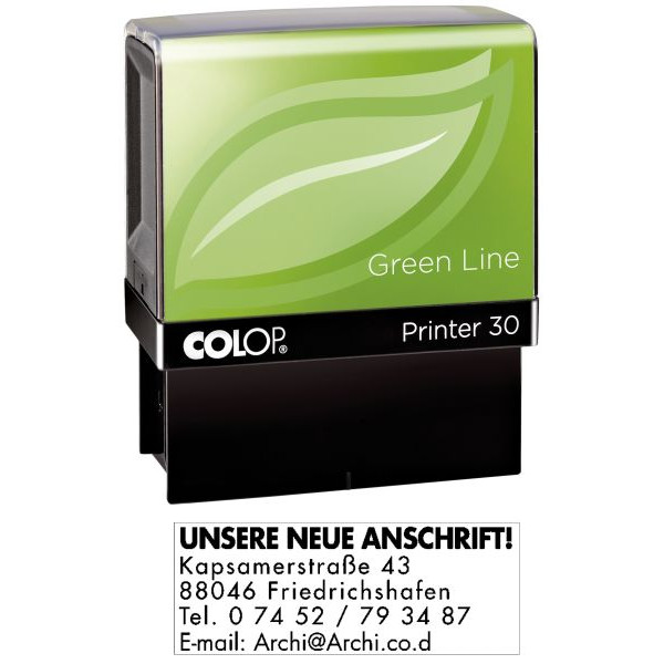 COLOP Printer 30 Greenline max.5 Zeilen mit GS