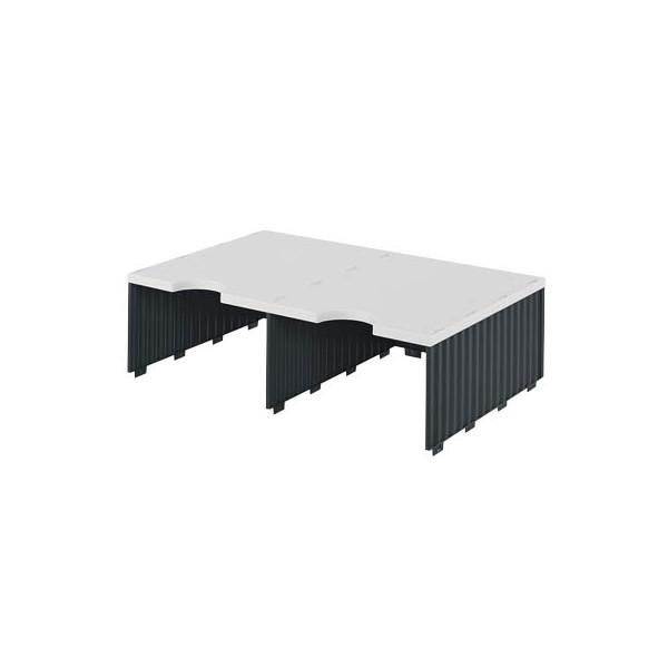 Styro Sortierstation doc Jumbo mit 2 Fächern C4 grau/schwarz Aufbaueinheit