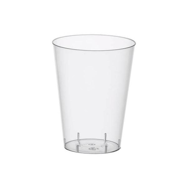 Papstar Trinkbecher aus Polystyrol (PS) glasklar 0,4 l