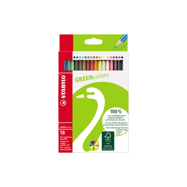 Stabilo Greencolors Buntstifte18 Etui