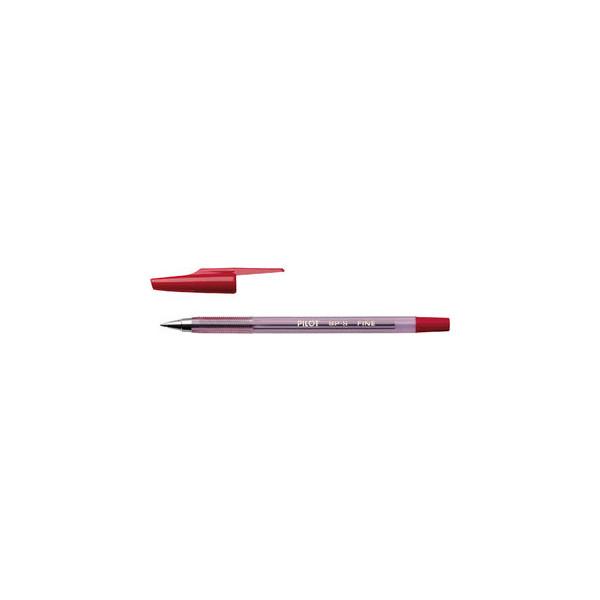 PILOT Kugelschreiber BP-S rot 0,3 mm mit Kappe