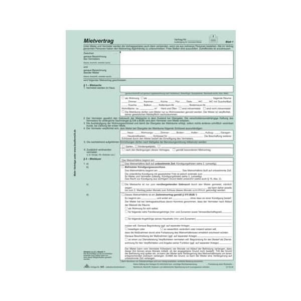 RNK Mietvertrag Universal A4 SD 25St