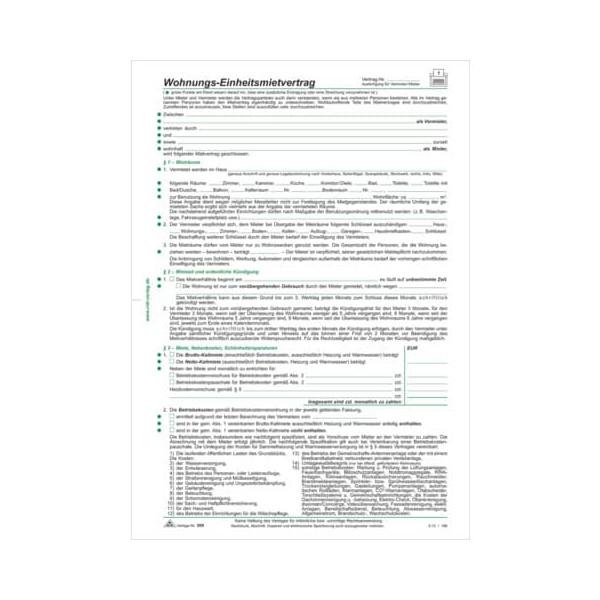 RNK Einheitsmietvertrag A4 4Bl 10ST