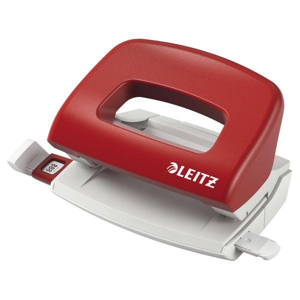 LEITZ Locher New NeXXt 5058-00-25 rot bis 1mm 10 Blatt mit Anschlagschiene