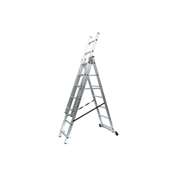 SZ Metall Alu Schiebeleiter mit 3 x 7 Stufen