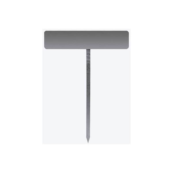 Einschlagpfosten mit Aluminiumgrundplatte für KFZschildmontage