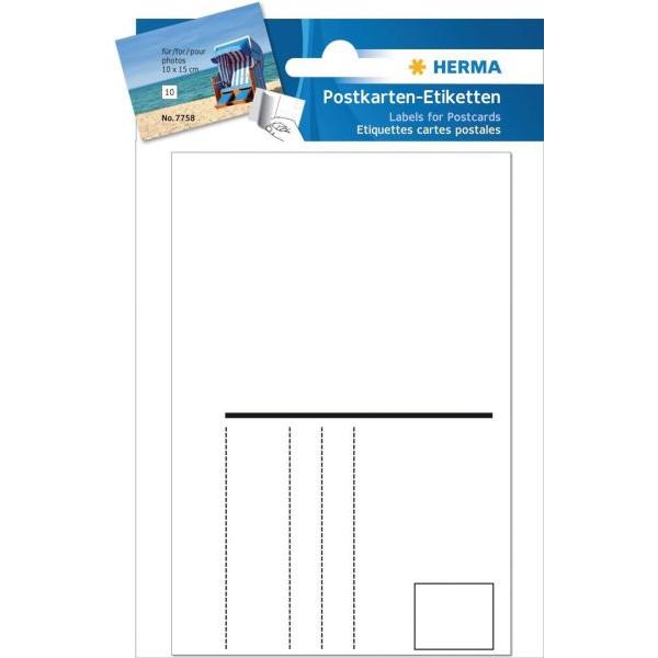 Herma Postkarten-Etiketten Nr. 7758
