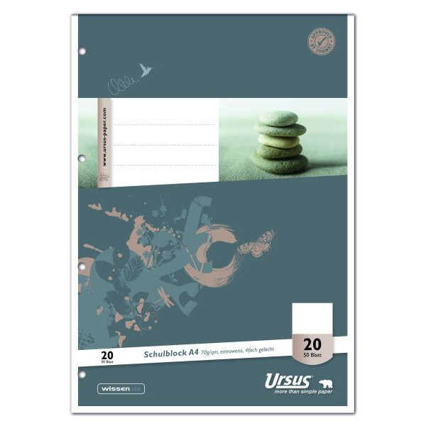 Format-X Schulblock A4 4-f.gelocht blanko 50Bl
