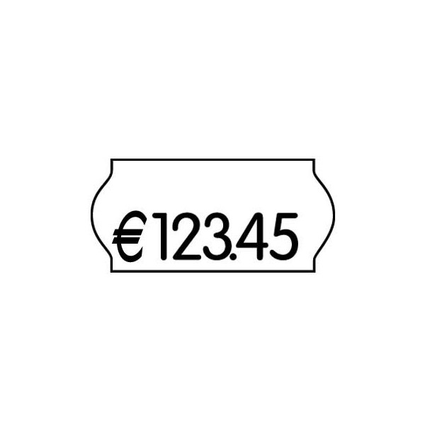 PrinterLabels AS Preisetiketten 70-03M-0-200, 26x12mm, weiß wiederablösbar, 18.000 Etiketten
