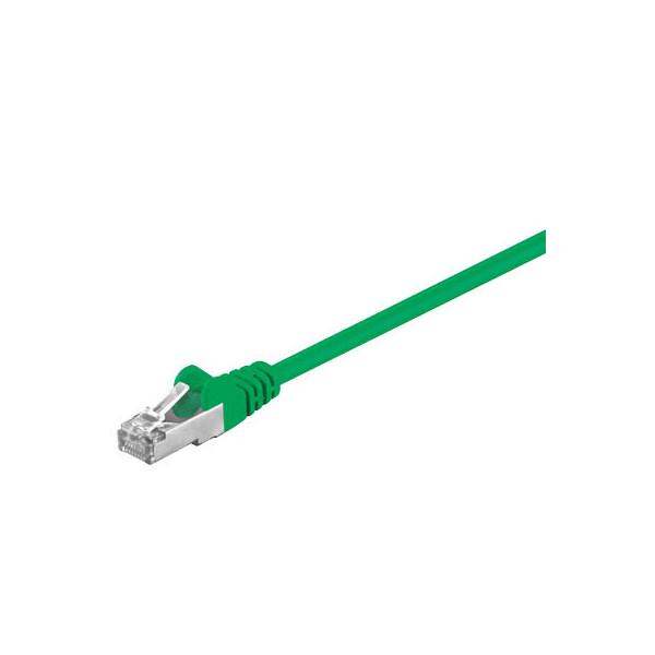 goobay Netzwerkkabel grün RJ-45 Stecker 0,5m Cat 5e