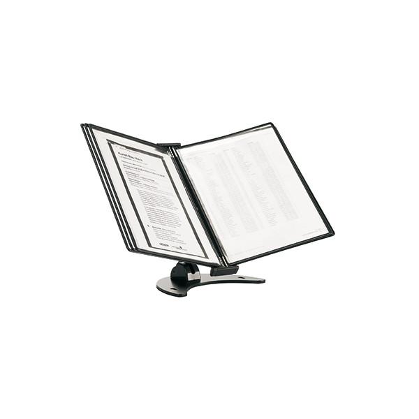 tarifold Tischständer 3D Tischständer 10 Sichttafeln/475107 A4 schwarz PP