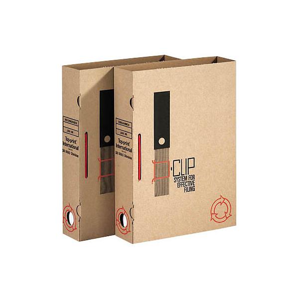 Toppoint Archivboxen 4098 für DIN A4 100 Stück braun