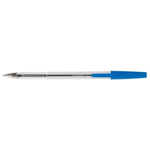 Q-CONNECT Ballpen medium blau Kugelschreiber M 1mm
