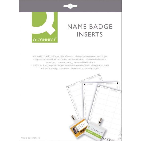Q-CONNECT Etiketten für Namensschild 60x30mm