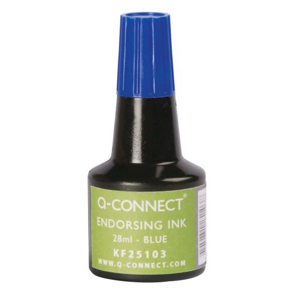 Q-CONNECT Stempelfarbe blau 28 ml
