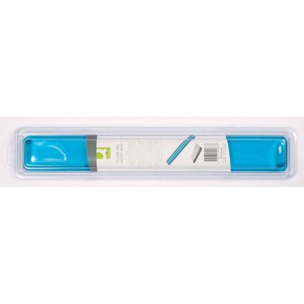 Q-CONNECT Tastatur Handgelenkauflage Transp.blau