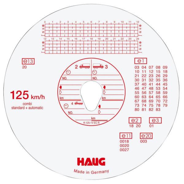 HAUG Diagrammscheiben 3100 125 Km/h Kombi Durchmesser 12cm 100 Stück