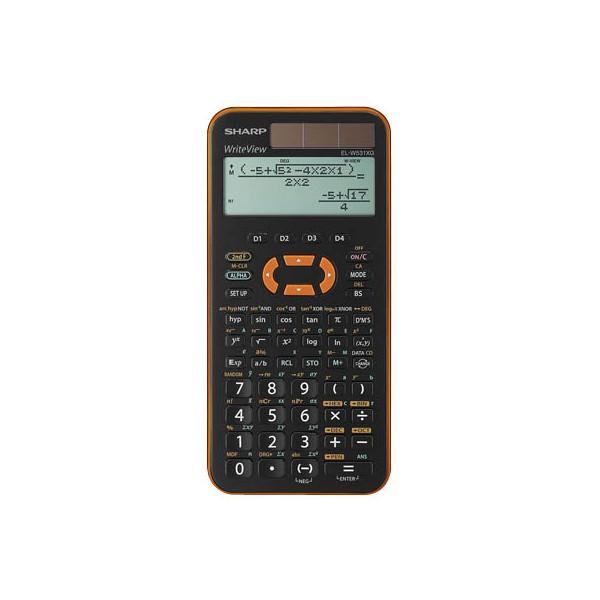 Sharp Schulrechner EL-W531XG schwarz/orange