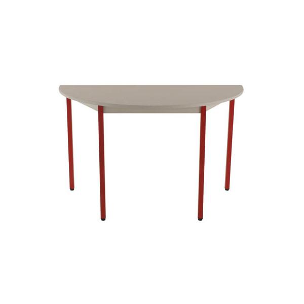 Schreibtisch T120DRGR grau halbrund 120x60 cm (BxT)