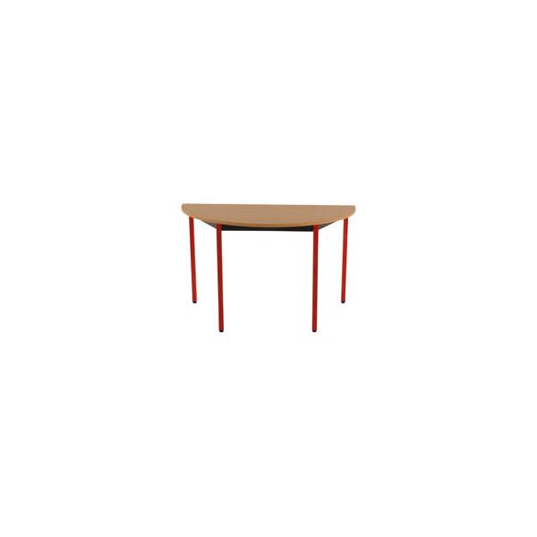 Schreibtisch T120DRHR buche halbrund 120x60 cm (BxT)