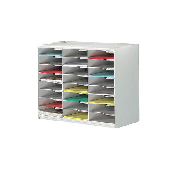 Paperflow Sortierstation mit 24 Fächern A4 lichtgrau