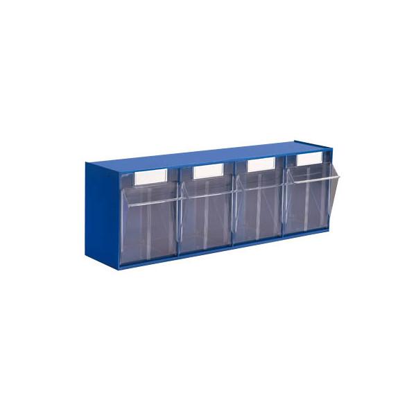 Hünersdorff Klappkasten MultiStore 4 Fächer à 125x128x133mm (BxTxH) enzianblau