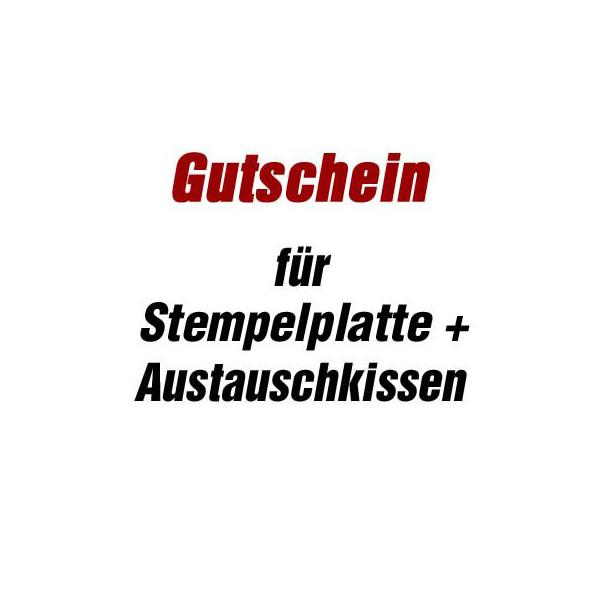 Trodat Gutschein für Stempelsatz + Austauschkissen für Stempel printy 4927 ohne Logo