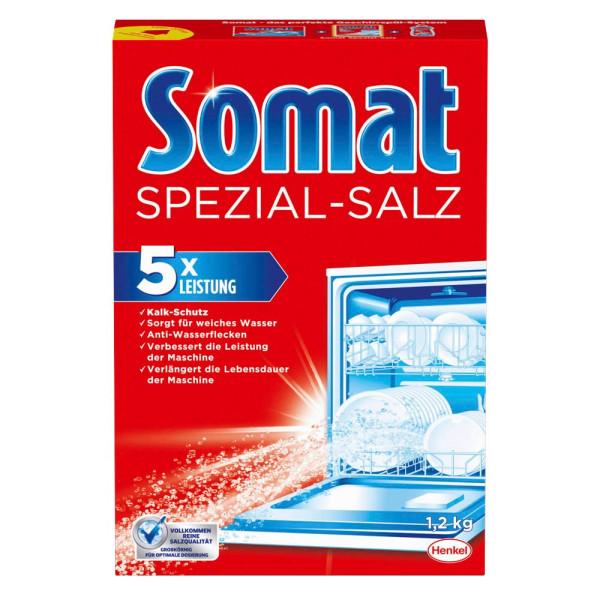 (1,03 EUR/1 kg) Somat Spezial-Salz für Geschirrspülmaschine grobkörnig Karton 1,2 kg