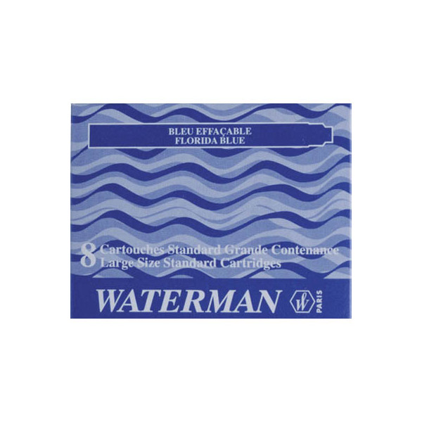 Waterman Füllerpatronen S0713021 blau 8 Stück Großraum