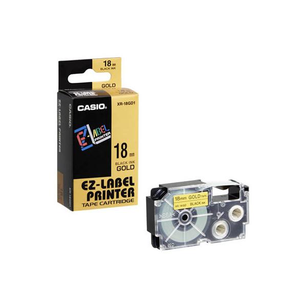 Casio Beschriftungsband XR-18GD schwarz auf gold Plastik 18mm