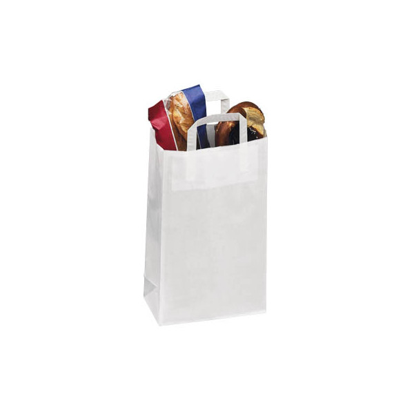 VePa Tragetaschen Topcraft weiß aus Kraftpapier 32,0 x 14,0 x 42,0 cm (BxTxH)