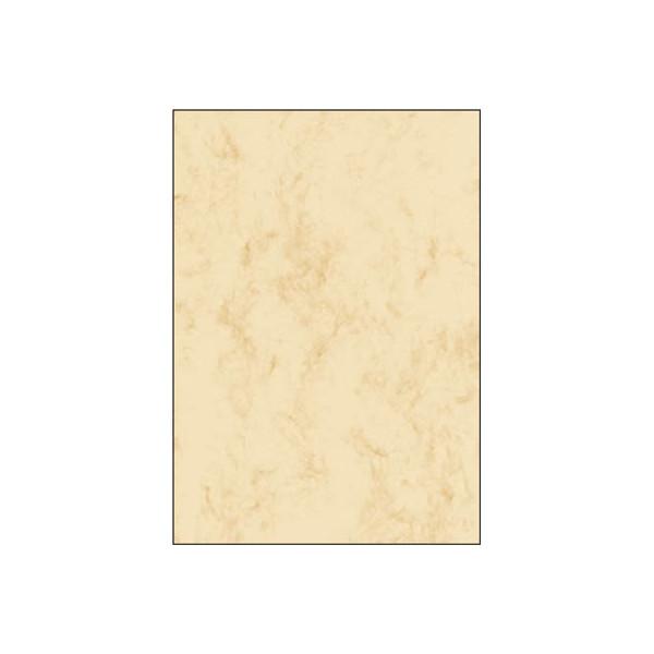 Sigel Motivpapier DP181 A4 90g beige marmoriert 25 Blatt