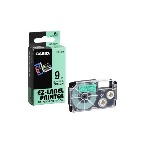 Casio Beschriftungsband XR-9GN 9 mm schwarz auf grün Plastik