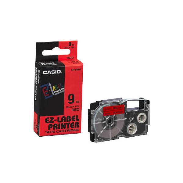 Casio Beschriftungsband XR-9RD schwarz auf rot Plastik 9mm