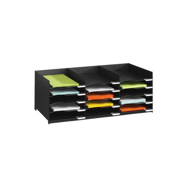 Paperflow Sortierstation mit 15 Fächern A4 schwarz