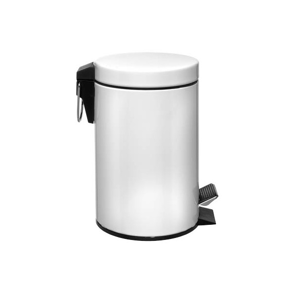Zeller Tretabfalleimer 3 Liter weiß