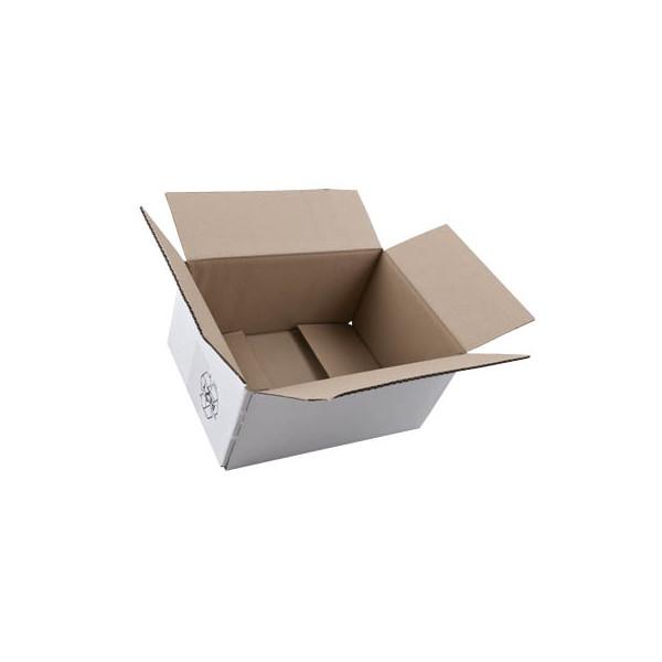 Faltkartons 31,5 x 22,5 x 15,7cm weiß 20 Stück Wellpappe