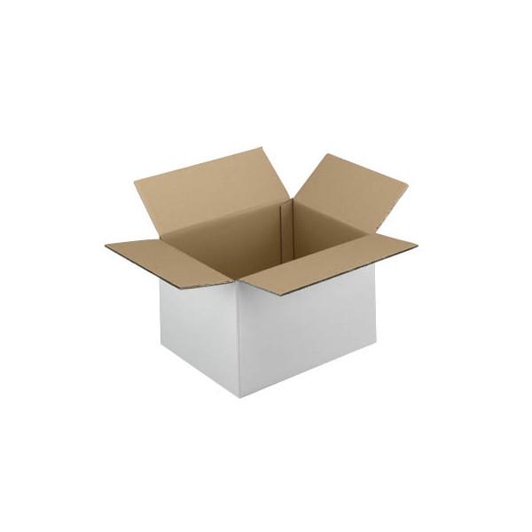 Faltkartons 22,3 x 16,3 x 15,8cm weiß 20 Stück Wellpappe