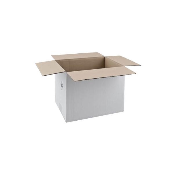 Faltkartons 31,5 x 22,5 x 23,7cm weiß 20 Stück Wellpappe