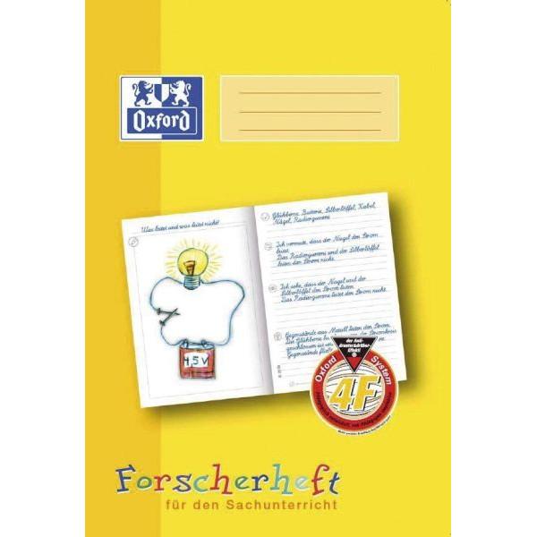 Oxford Forscherheft 4. Schuljahr A4 Lineatur 4F liniert weiß 16 Blatt