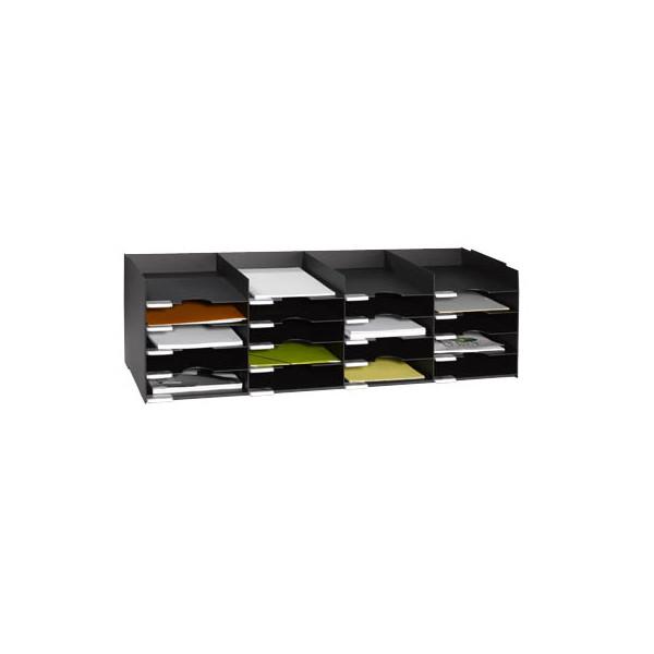 Paperflow Sortierstation mit 20 Fächern A4+ schwarz