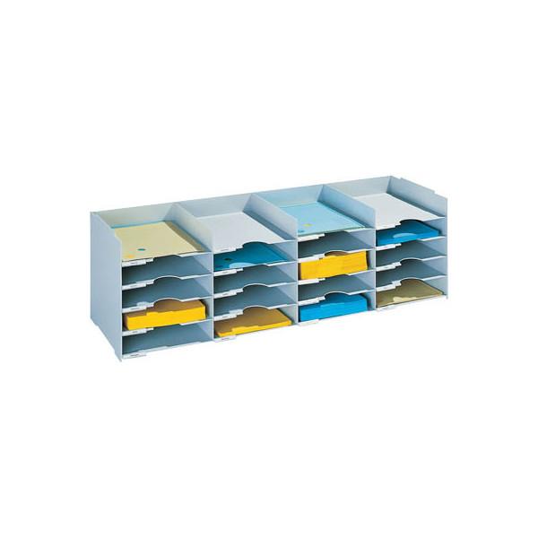 Paperflow Sortierstation mit 20 Fächern A4+ lichtgrau