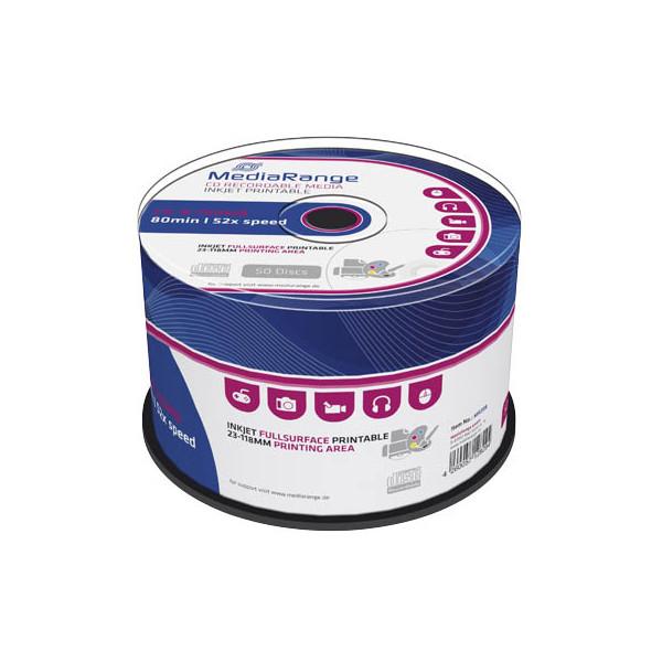 MediaRange CD-R bedruckbar 50er Spindel