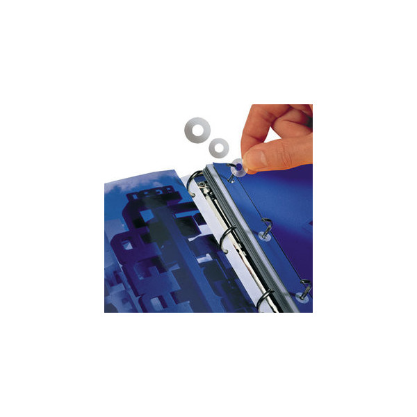 3L Lochverstärkungsringe aus PP/8214-500 transparent Polypropylen Inh.500