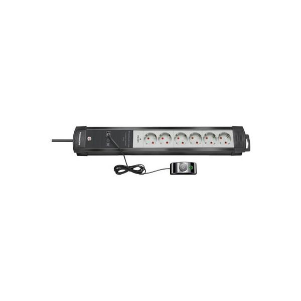 Brennenstuhl Steckdosenleiste Premium-Line Comfort Switch Plus, 6 zweipolig abschaltbare Steckdosen