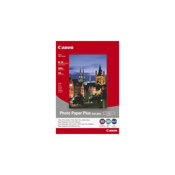 Canon Inkjet-Fotopapier 10x15cm SG-201 Plus seidenmatt 260g 50 Blatt