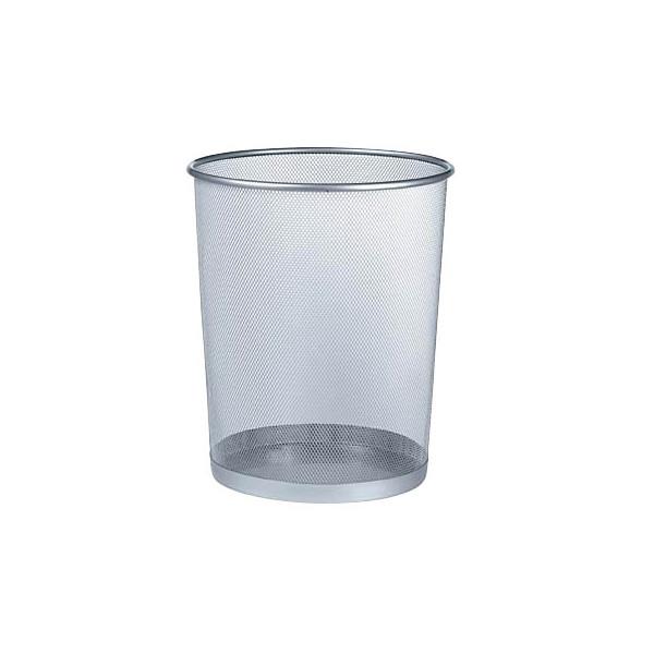 Zeller Drahtpapierkorb 17,5 Liter aluminium