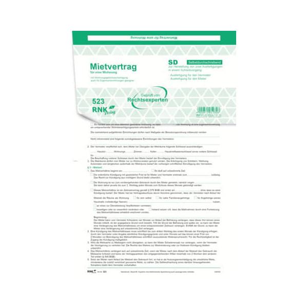RNK Universal-Mietvertrag A4 SD 3x2S 25St