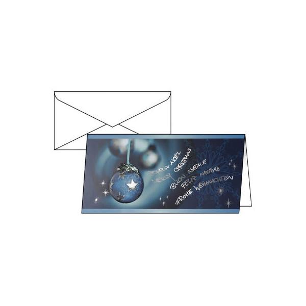 Sigel Weihnachtskarten Miracle Din Lang 10 Stück inkl. weißen Umschlägen DS349