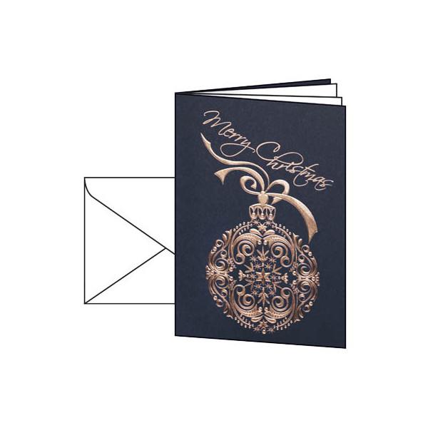 Sigel Weihnachtskarten Noblesse A6 10 Stück inkl. weißen Umschlägen DS346